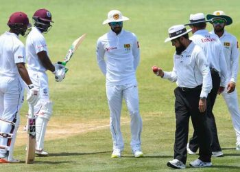 Dinesh Chandimal (C) has been charged with changing the condition of the ball during the second Test against West Indies in Saint Lucia, Saturday