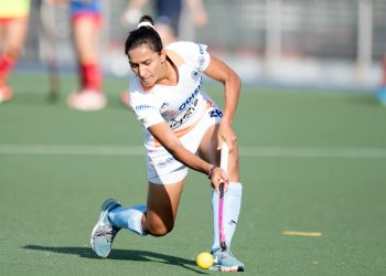 Indian skipper Rani Rampal in action against Spain, Friday