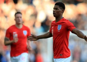 England's Marcus Rashford celebrates after scoring a screamer from long range against Costa Rica in Leeds, Thursday