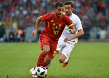 Eden Hazard in action against Egypt, Wednesday