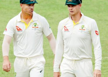 David Warner (L) and Steve Smith are all set to play in the Global T20 Canada