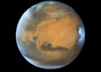 NASA shows the planet Mars