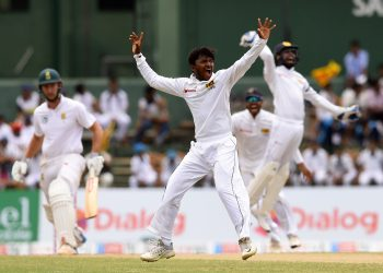 Akila Dananjaya contributed with the bat and then took five South African wickets