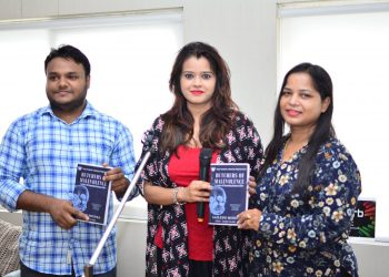 Book Launch with Diksha Tiwari(Middle) and Itishri Sarangi(Right)