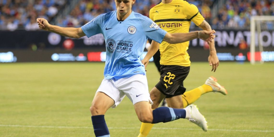 Man City's Phil Foden in action during their International Champions Cup match against Borussia Dortmund in Chicago, July 21