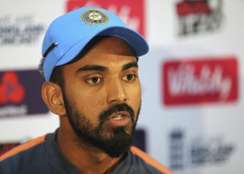 KL Rahul speaks during a press conference at The SSE SWALEC in Cardiff, Thursday