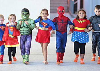 Kids just love superheroes
