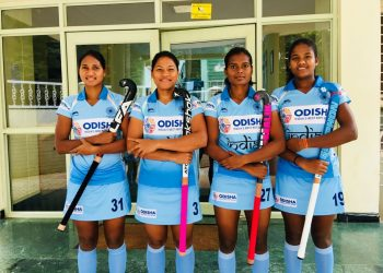 Odisha players (from L) Lilima Minz, Deep Grace Ekka, Sunita Lakra and Namita Toppo are a part of the Indian women's hockey team for the World Cup in London