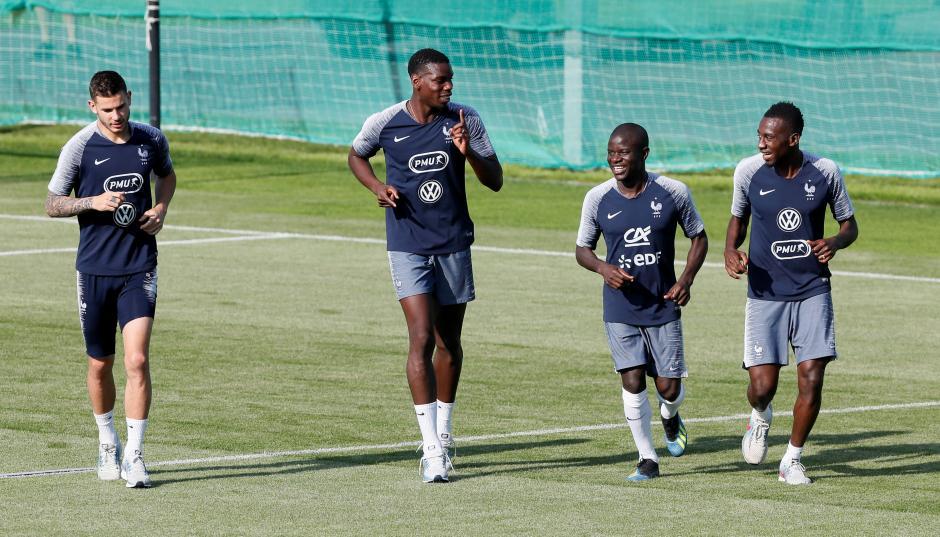 France players train ahead of their final Sunday against Croatia