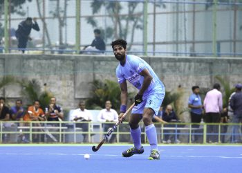 Rupinder Pal Singh in action during one of the games against New Zealand