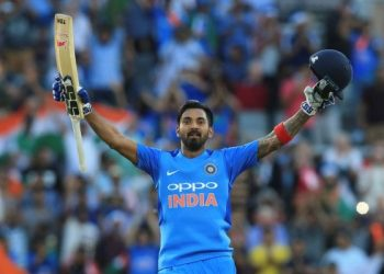 KL Rahul celebrates his century against England, Tuesday