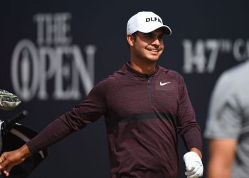 Shubhankar Sharma is all smiles Friday after making the cut at The Open