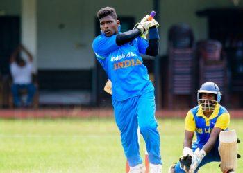 Sunil Ramesh in action against Sri Lanka in Colombo, Friday