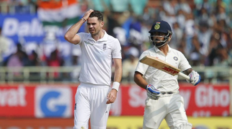 The battle between James Anderson (L) and Virat Kohli will play an influential role in the Test series