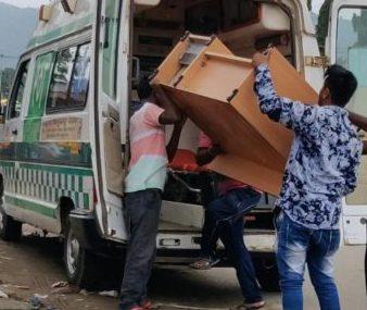 Furniture, 108 Ambulance used for ferrying furniture in Malkangiri