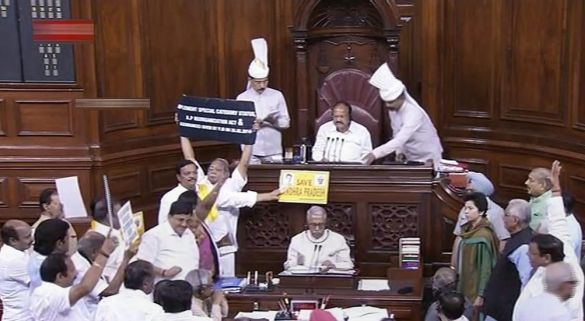 Adjourns, RS briefly adjourns over TDP's demands for Andhra package