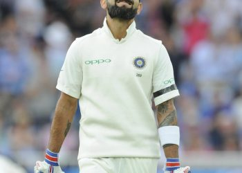 Virat Kohli leaves the field after being dismissed just three runs short of century against England at Trent Bridge