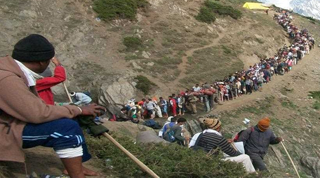 Image result for The first battalion leaves for Amarnath pilgrims from Jammu