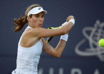 Johanna Konta in action at the WTA hardcourt event
