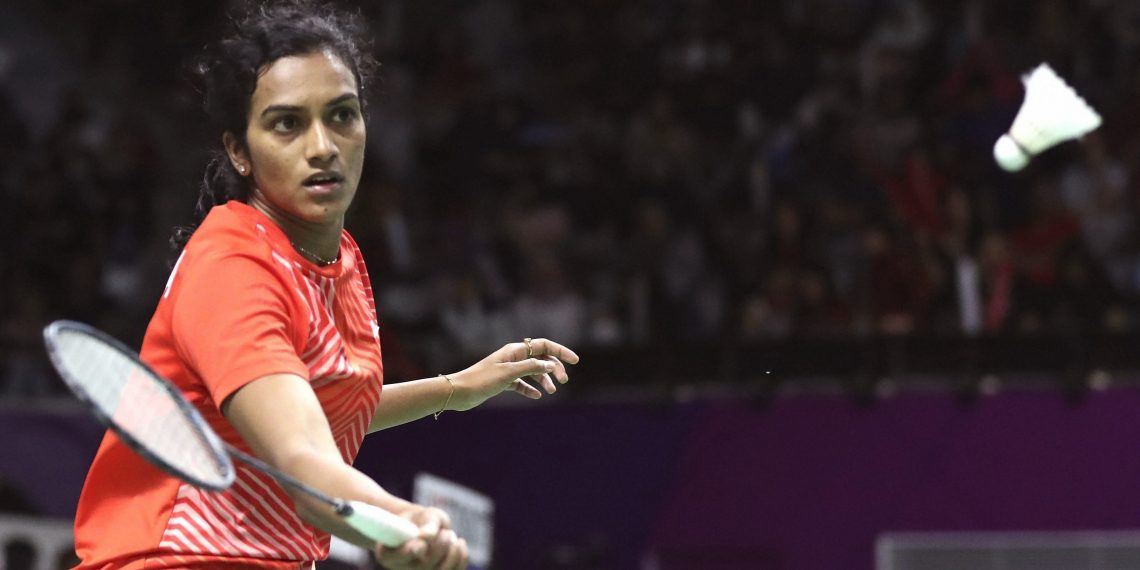 PV Sindhu watches the shuttle closely during her match against Gregoria Tunjung at Jakarta, Saturday