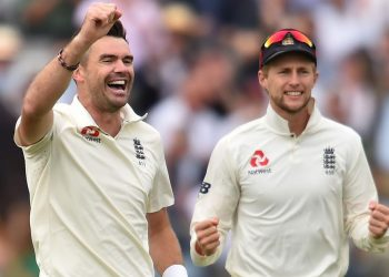 England skipper Joe Root has acknowledged the contributions of pacer James Anderson (L) for England