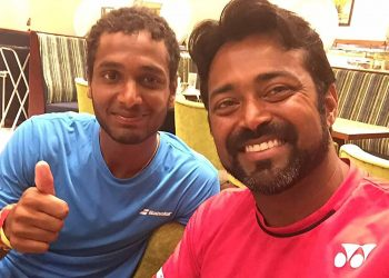 Leander Paes (right) with Leander Paes