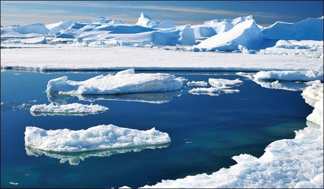 ice surrounding Antarctica