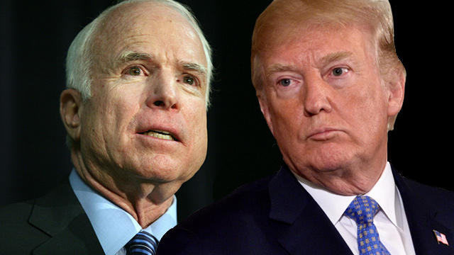 McCain, McCain and Trump: no love lost