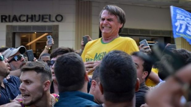 Stabbed, Brazilian presidential candidate stabbed at rally