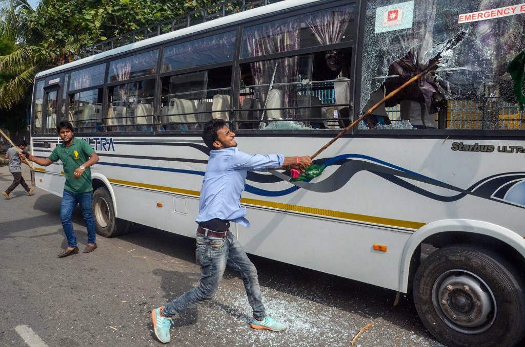 Bharat Bandh, Bharat bandh cripples life in state