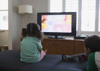 Children-watching TV