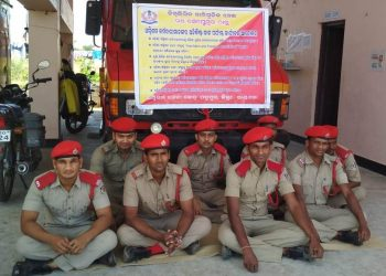 File photo of agitating Fire Services personnel
