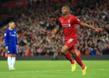Daniel Sturridge celebrates after scoring Liverpool's equaliser against Chelsea at Stamford Bridge, Saturday