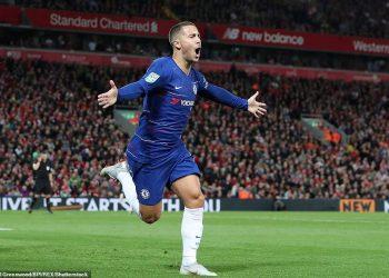 Eden Hazard scored a stunning winner for Chelsea against Liverpool in London, Wednesday