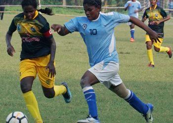 Odisha's Pyari Xaxa in action against Tamil Nadu during their semifinal match at Barabati Stadium, Cuttack, Saturday
