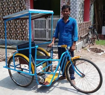 tricycle, Village boy develops solar tricycle, needs govt help