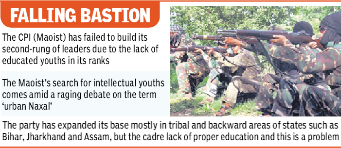 , Maoists scouting for urban, intellectual youth to fill ranks