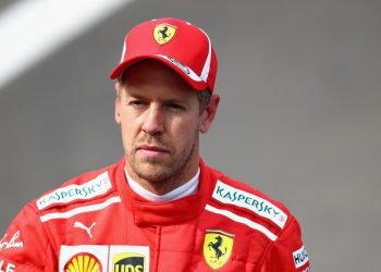 Sebastian Vettel of Ferrari