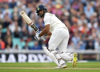 Hanuma Vihari during his innings at the Oval, Sunday