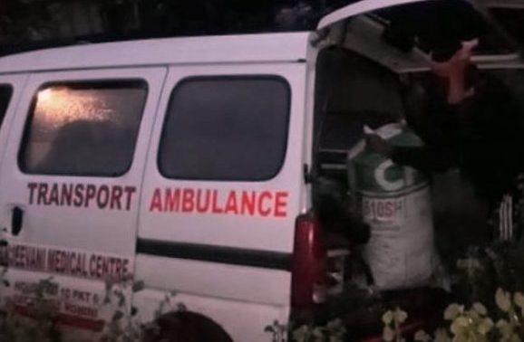Ganja, Ganja worth lakhs seized from ambulance