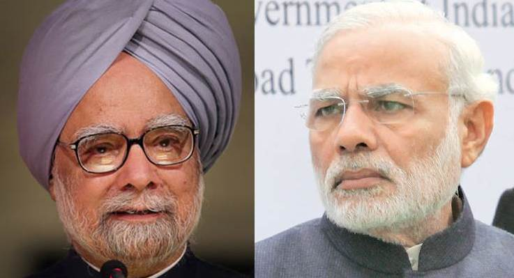 Modi, Manmohan hits out at Modi govt