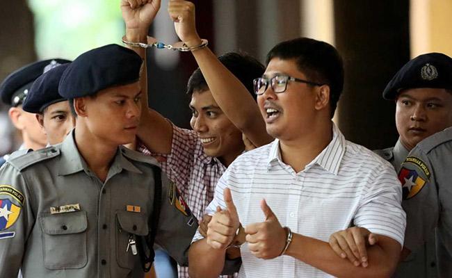 Myanmar, Myanmar jails 2 Reuters reporters for 7 years