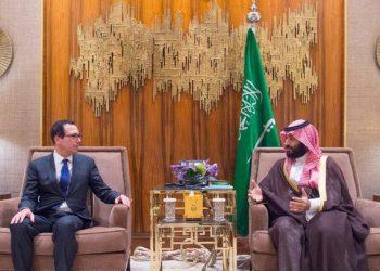 Saudi Arabia's Crown Prince meets with US Treasury Secretary Mnuchin