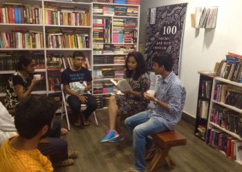 Book reading session at the book club event organised by Walking bookfairs (1)