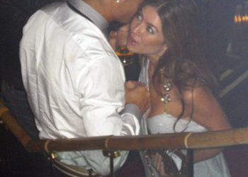 In this June 2009 photo, Cristiano Ronaldo is pictured with Kathryn Mayorga in Rain Nightclub in Las Vegas.