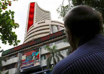 Sensex down 300 points over weak macro, negative global cues.