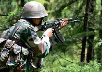 Infiltration attempt in Jammu and Kashmir Sunday in which two terrorists and three Indian soldiers were killed.