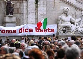 """Roma Dice Basta"", or ""Rome Says Enough"""