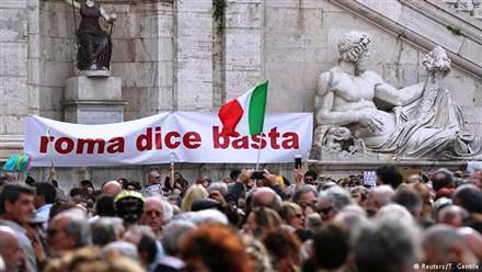 """Roma Dice Basta"", or ""Rome Says Enough"""