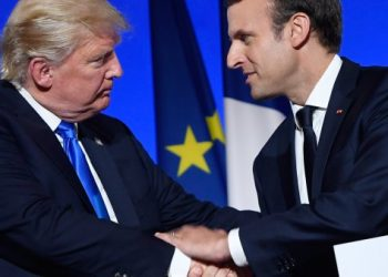 Representative image: US President Donald Trump and French counterpart Emmanuel Macron.